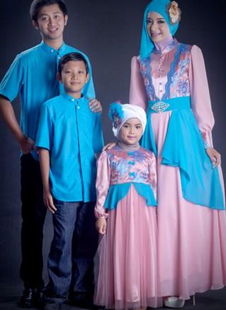 Model Baju Gamis Sarimbit Keluarga Terbaru
