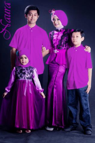 Contoh Baju Lebaran Keluarga Artis Indonesia Terbaru