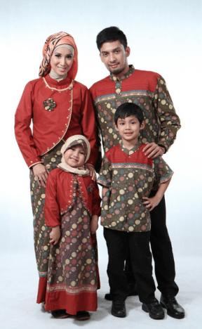 Pakaian Muslim Batik Keluarga Untuk Pesta Modern dan Glamour