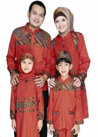 Model Baju Muslim Seragam Suami Istri dan Anak Terbaru