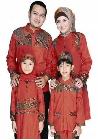 Model baju muslim gamis couple keluarga plus 2 anak terbaru