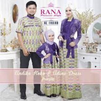Model Baju Muslim Sarimbit Suami Istri dan Anak Terbaru