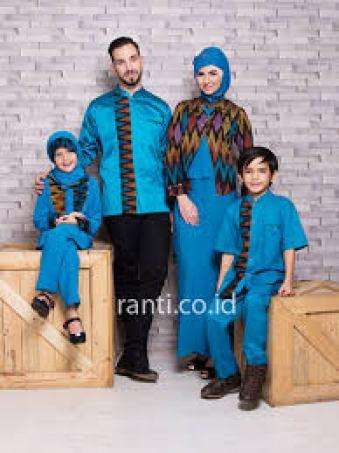 model baju Batik sarimbit keluarga untuk lebaran Modern terbaru