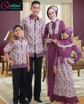 model baju Seragam batik Kain polos Kombinasi Modern terbaru
