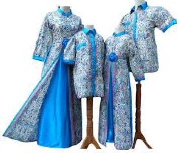 Contoh Model Baju muslim keluarga Warna Putih Terbaru