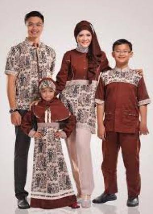 model baju Seragam batik kombinasi polos Modern terbaru