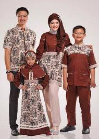 Model baju batik seragam ayah ibu anak terbaru