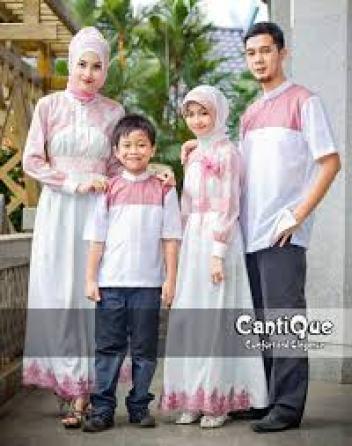 Model Baju Pesta Muslim Pasangan Suami Istri dan Anak Terbaru