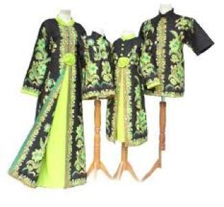 Baju Muslim Batik Keluarga Untuk Pesta Modern dan Glamour