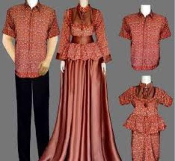 Model baju couple keluarga 2 anak terbaru