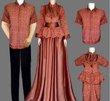 Contoh Model Baju muslim keluarga Seragam Modern Terbaru