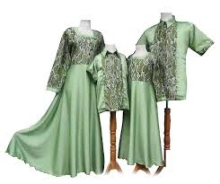 Model Baju Gamis Couple Keluarga Untuk Lebaran Terbaru