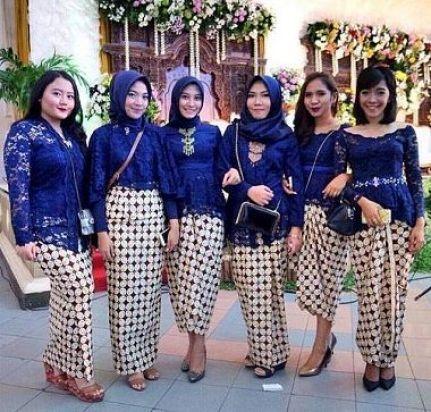 Contoh Busana seragam pernikahan modern Terbaru