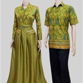 model baju Muslim batik couple Untuk Kondangan Terbaru