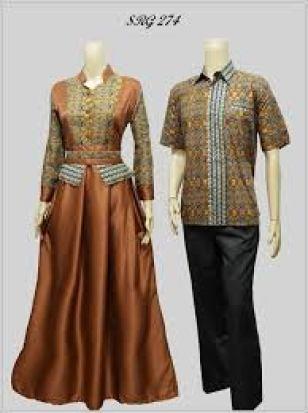 model busana seragam batik kombinasi brokat