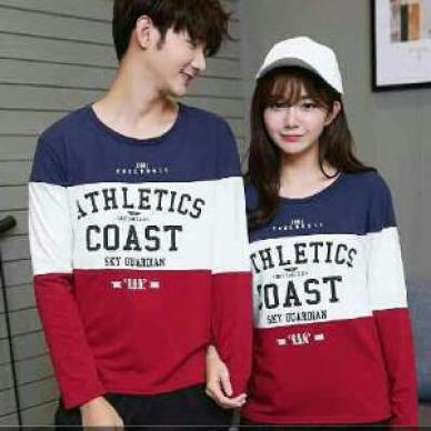 Model Kaos Lengan Panjang kembar pasangan kekasih Terbaru