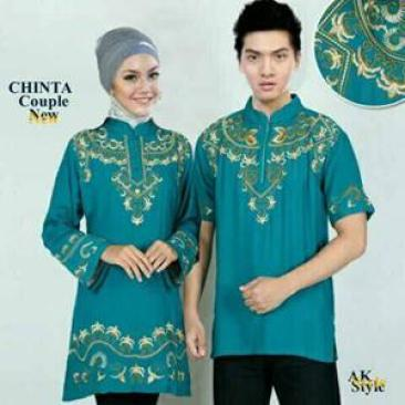 Model Baju Muslim Keluarga Warna Hijau Terbaru
