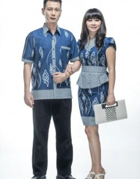 Contoh Baju Batik Pasangan suami dan istri Pekalongan Terbaru