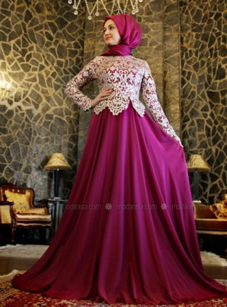 Model Dress Pesta Pendek Brokat Terbaru