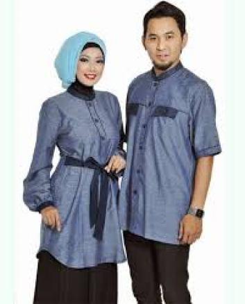 Model Baju Muslim Keluarga Warna Ungu Terbaru