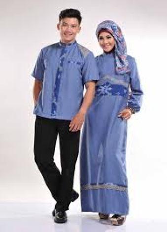 Model Baju Batik Muslim Couple Keluarga Modern