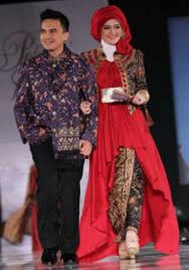 model baju sarimbit batik kombinasi sifon