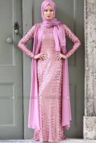 model gaun pesta brokat panjang Mewah Terbaru