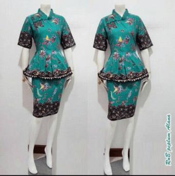 Model baju batik seragam kerja
