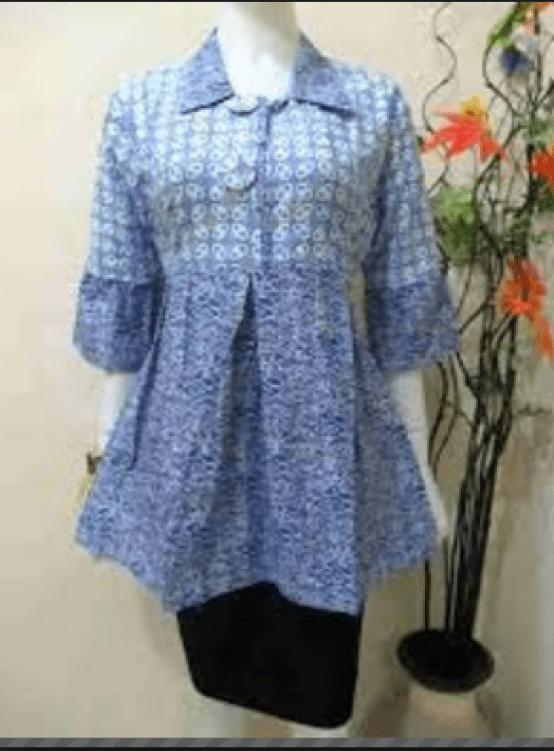 model baju batik kerja resmi