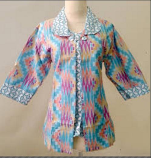 model baju batik kerja yang simpel