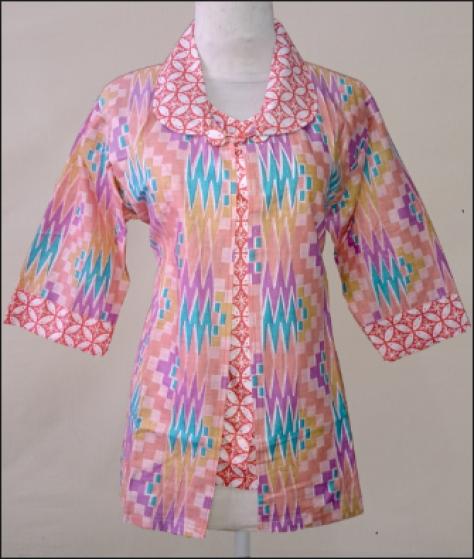 model baju batik Wanita kantoran terbaru