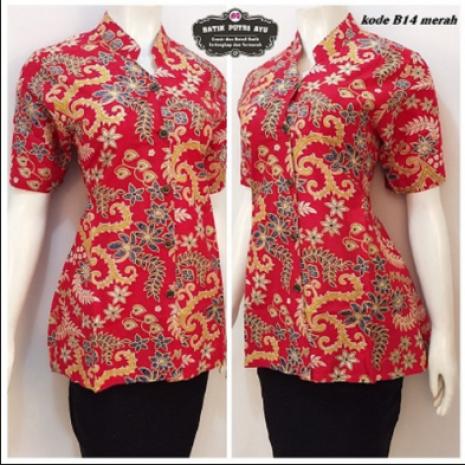 baju batik seragam kerja motif rangrang