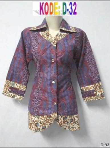 Model Pakaian Batik Solo untuk Seragam Kantor