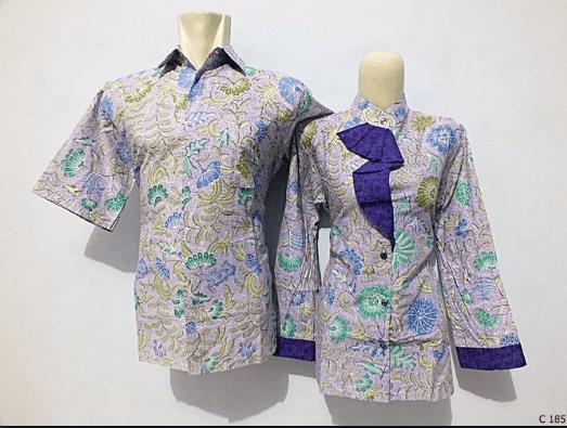 model baju seragam batik kombinasi sifon