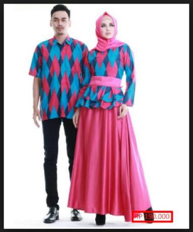 Desain Baju Couple Lebaran Modern Terbaru