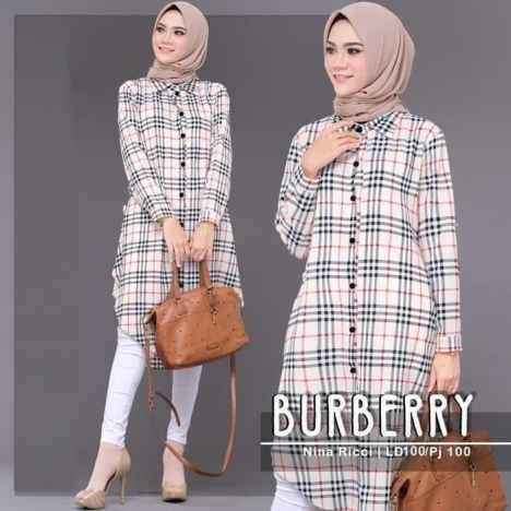 baju motif burberry