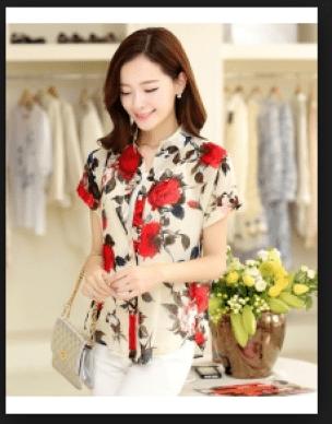 Kemeja wanita Korea yang lagi trend