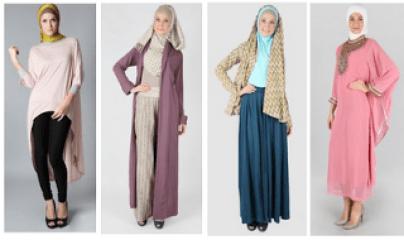 Baju wanita modis berjilbab