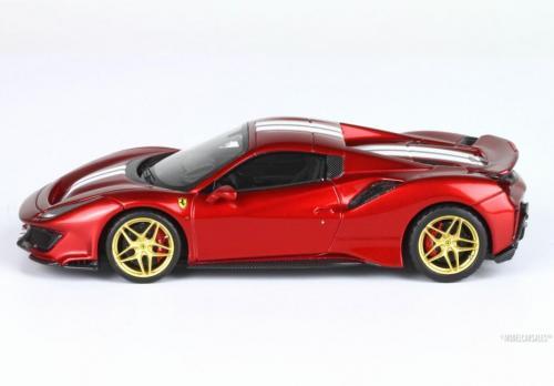 Ferrari 488 Pista Spider Closed Roof Red Rosso Fuoco 1:43 BBRC219C BBR Modellauto Zu verkaufen