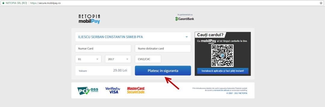 plata card mobilpay