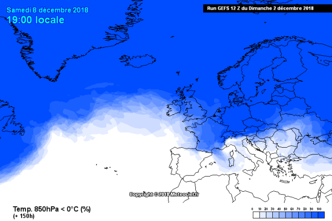 Previsioni probabilistiche 8-12 dicembre: freddo e neve?