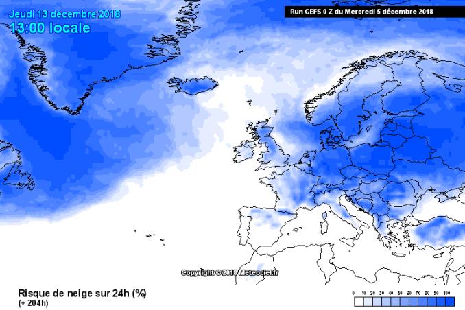 Meteo freddo e neve dal 10 dicembre: previsioni probabilistiche