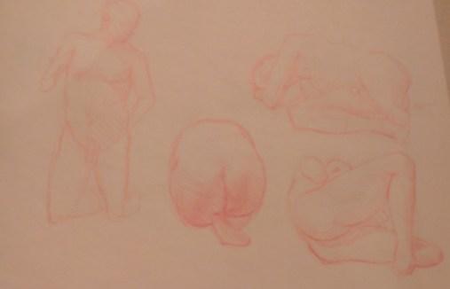 Diversité de poses nues