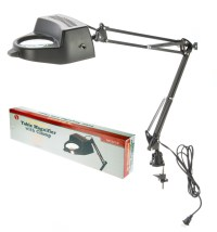 "SWING ARM MAGNIFYING LAMP WITH CLAMP - 4"" DIA. 2 X ..."