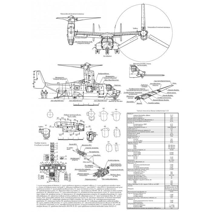 PLS-72047 1/72 Boeing MV-22B Osprey Full Size Scale Plans