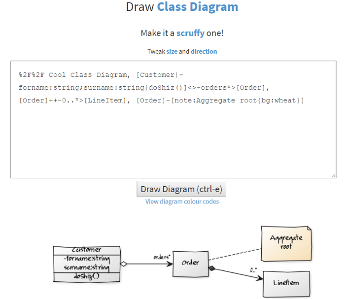visual studio view class diagram cat 6 wire text to uml tools fastest way create your models yuml scruffy version