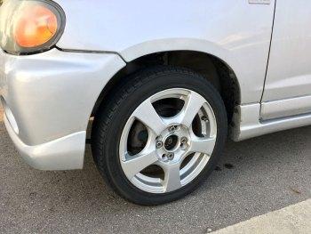アルトワークス(HA12S) タイヤ交換(スタッドレス→ノーマルタイヤ)