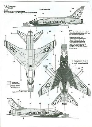 Warbird Decals 48003: F-100D Thunderbirds, reviewed by Ben