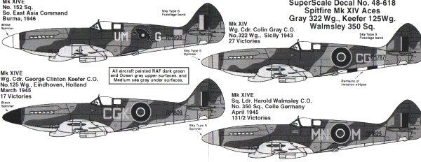 Superscale 48-618: Spitfire XIV Aces
