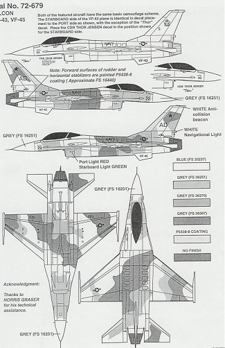 Superscale 72-679 for F-16N Falcons